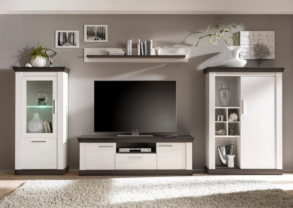 home affaire wohnwand 4 tlg siena kaufen otto. Black Bedroom Furniture Sets. Home Design Ideas
