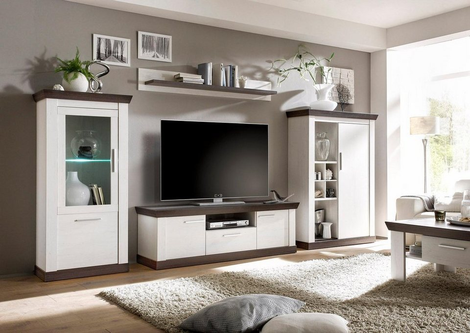 wohnwand weis wunderschn wohnwand weiss modern wunderbar wohnwand weis nussbaum tisch fresko. Black Bedroom Furniture Sets. Home Design Ideas