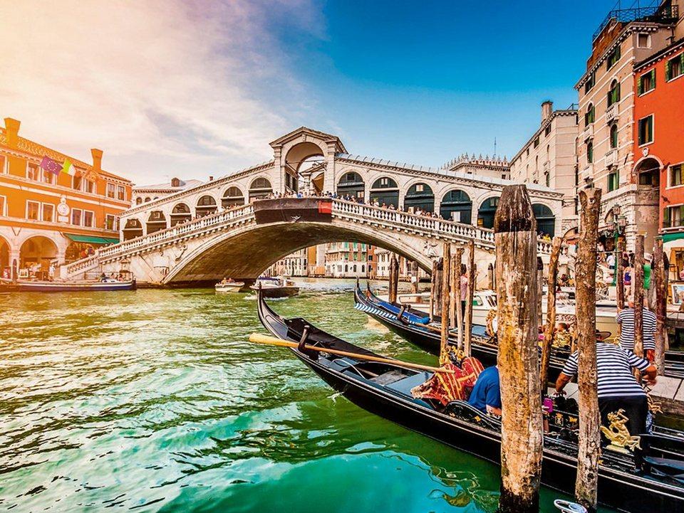 Home affaire Glasbild »canadastock: Panoramasicht auf den Canal Grande in Venedig«, 80/60 cm in Braun