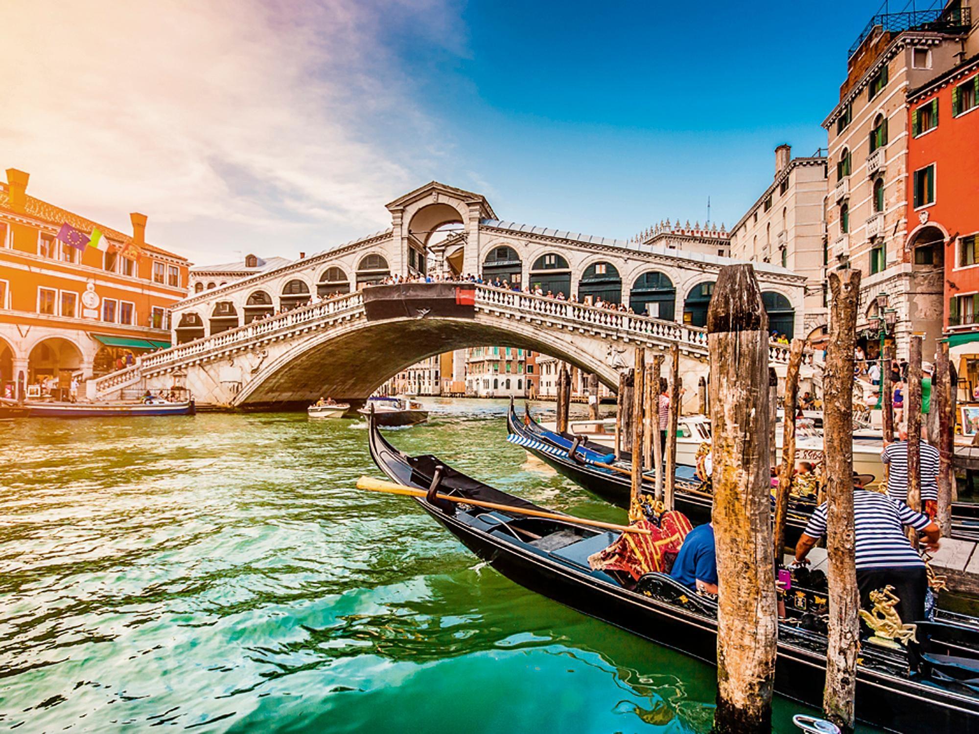 Home affaire Glasbild »canadastock: Panoramasicht auf den Canal Grande in Venedig«, 80/60 cm