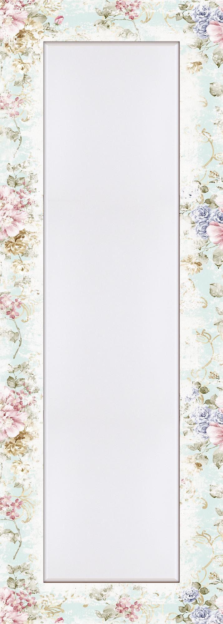 Home affaire Wandspiegel »tanginuk1205: Blumen mit nahtlosem Muster im Hintergrund«, 50,4/140,4 cm