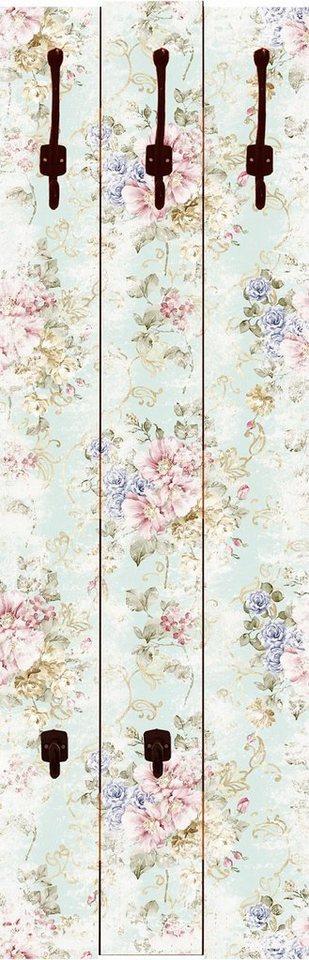 Home affaire Wandgarderobe »tanginuk1205: Blumen mit nahtlosem Muster im Hintergrund«, 45/140 cm in Pink/Rosa