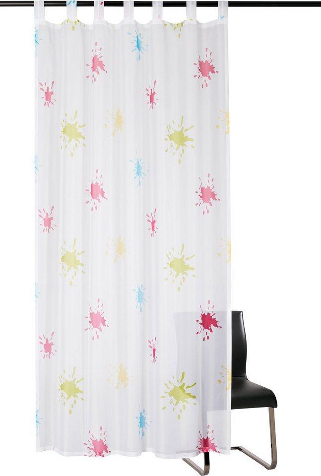 Vorhang, Kutti, »Splash«, mit Schlaufen (1 Stück) in weiss-bunt