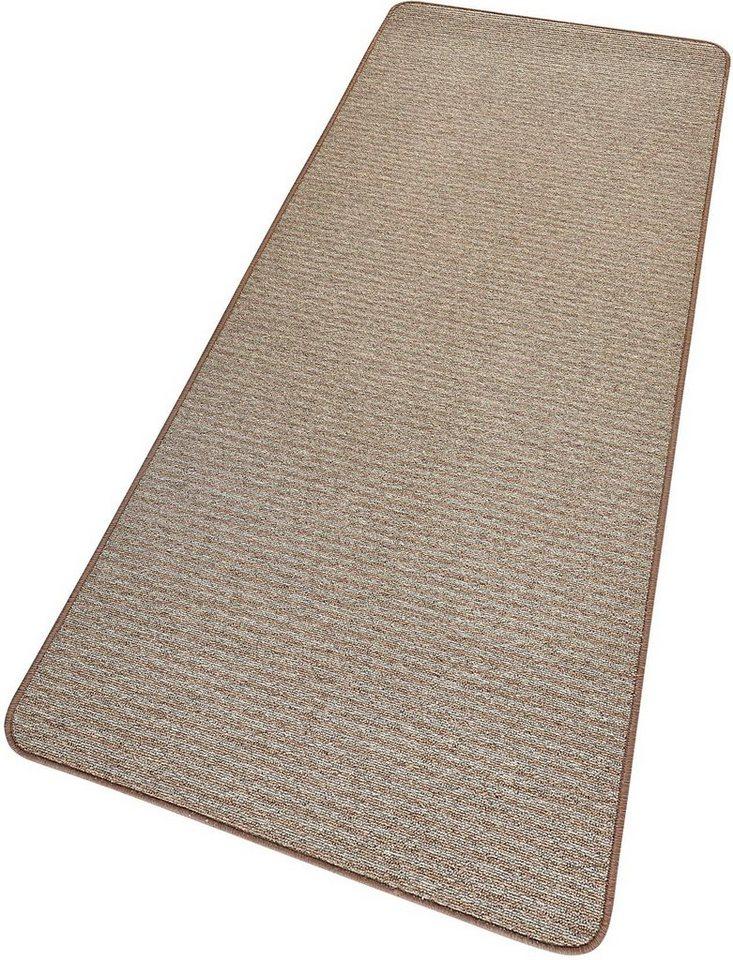 Läufer »Stripes Mix«, Hanse Home, rechteckig, Höhe 8 mm, veredelt durch Wollanteil in grau-braun