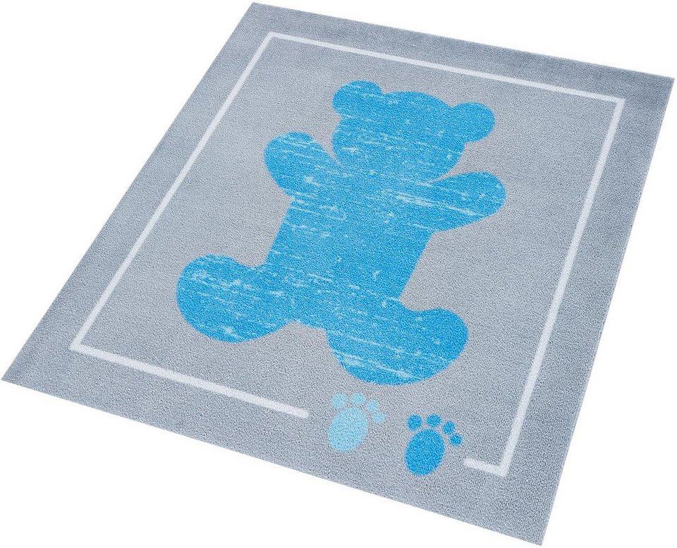 Kinder-Teppich, Zala Living, »Teddybär«, getuftet in grau blau