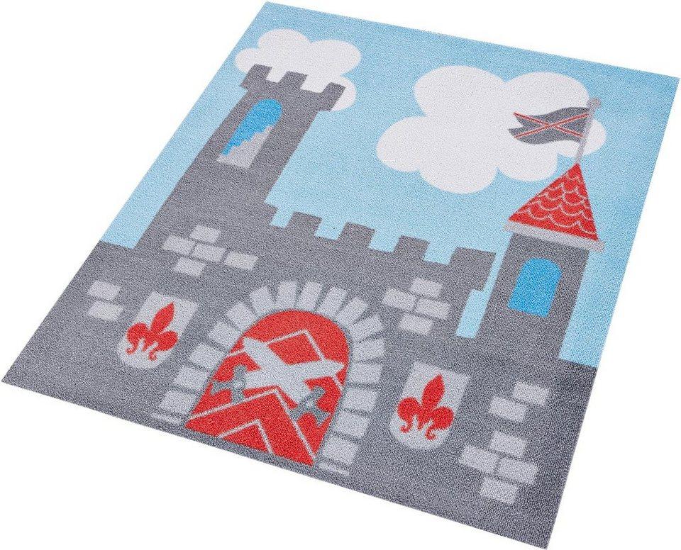 Kinder-Teppich, Zala Living, »Ritterburg«, getuftet in grau rot