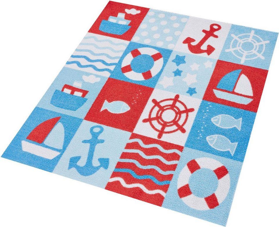 Kinder-Teppich, Zala Living, »Nautic Patchwork«, getuftet in rot blau