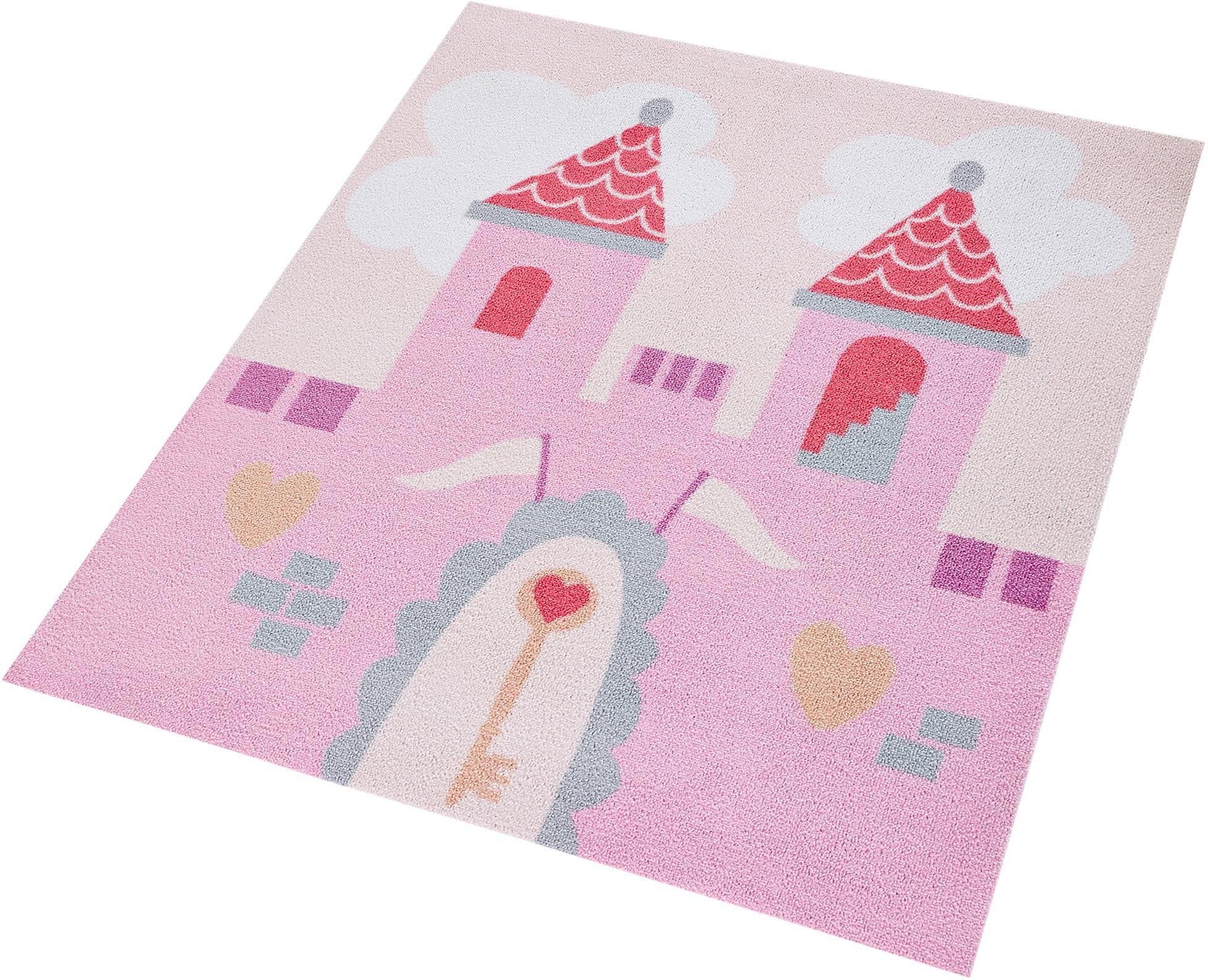 Kinderteppich »Prinzessinschloss«, , quadratisch, Höhe 7 mm