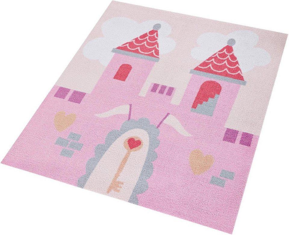 Kinder-Teppich, Zala Living, »Prinzessinschloss«, getuftet in rosa