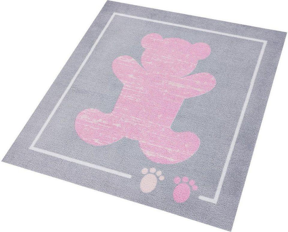 Kinder-Teppich, Zala Living, »Teddybär«, getuftet in grau rosa