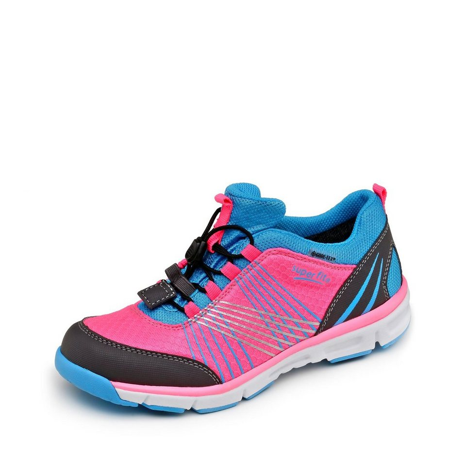 Superfit GORE-TEX® Sneaker in neonpink/türkis