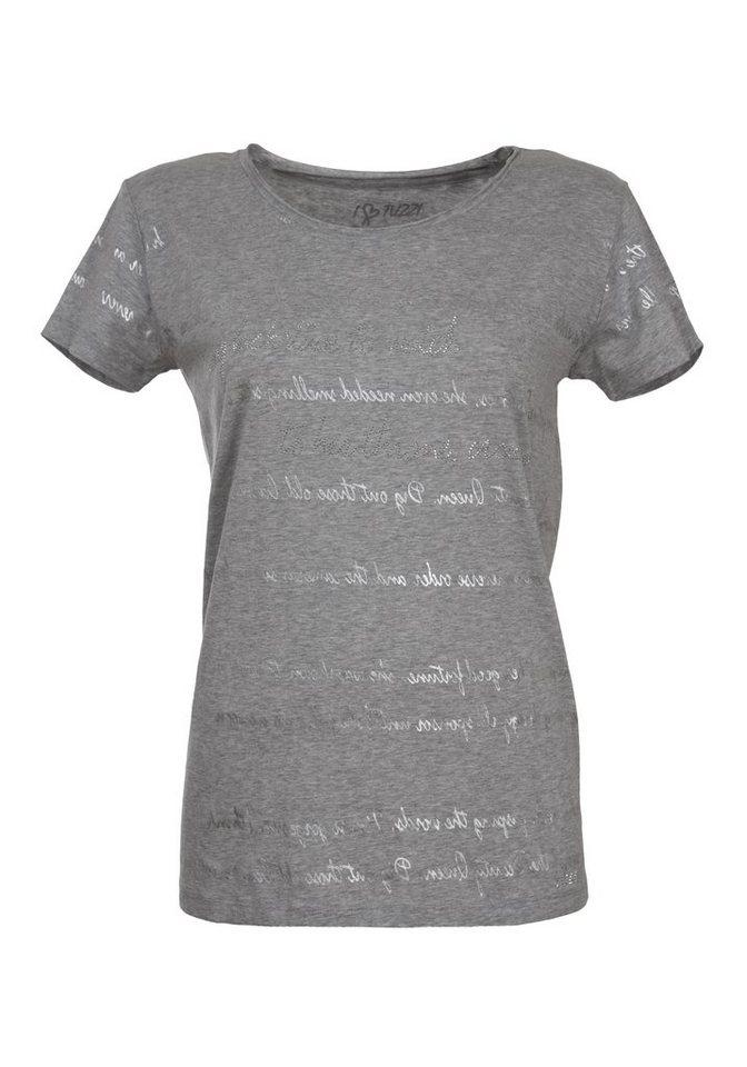 TUZZI Shirt »mit Foilprint« in grey melange figured