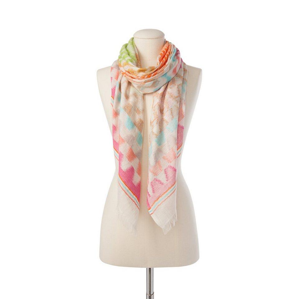 """CODELLO Sommerlicher Schal """"Gaucho Jacquard"""" in pink"""