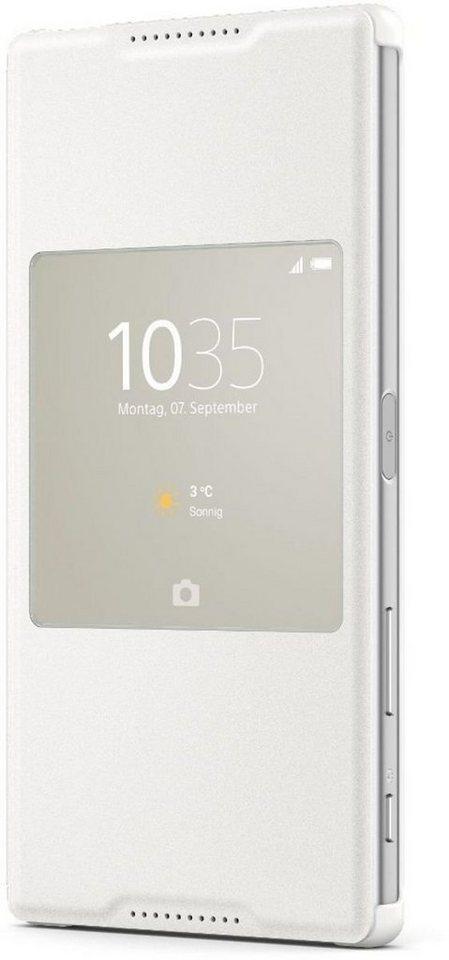 Sony Handytasche »Style Cover SCR46 für Xperia Z5 Premium« in Weiß