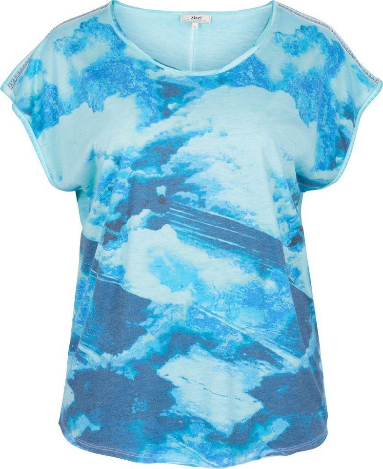 Zizzi T-Shirt in Dress Blues