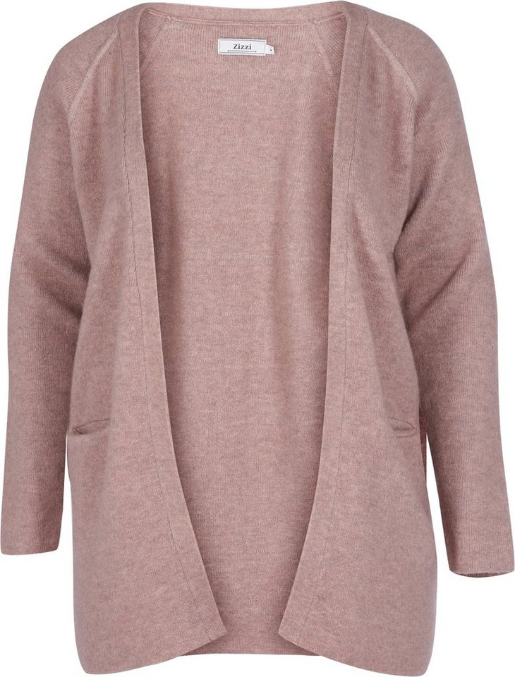 Zizzi Cardigan in Rose Dust melange