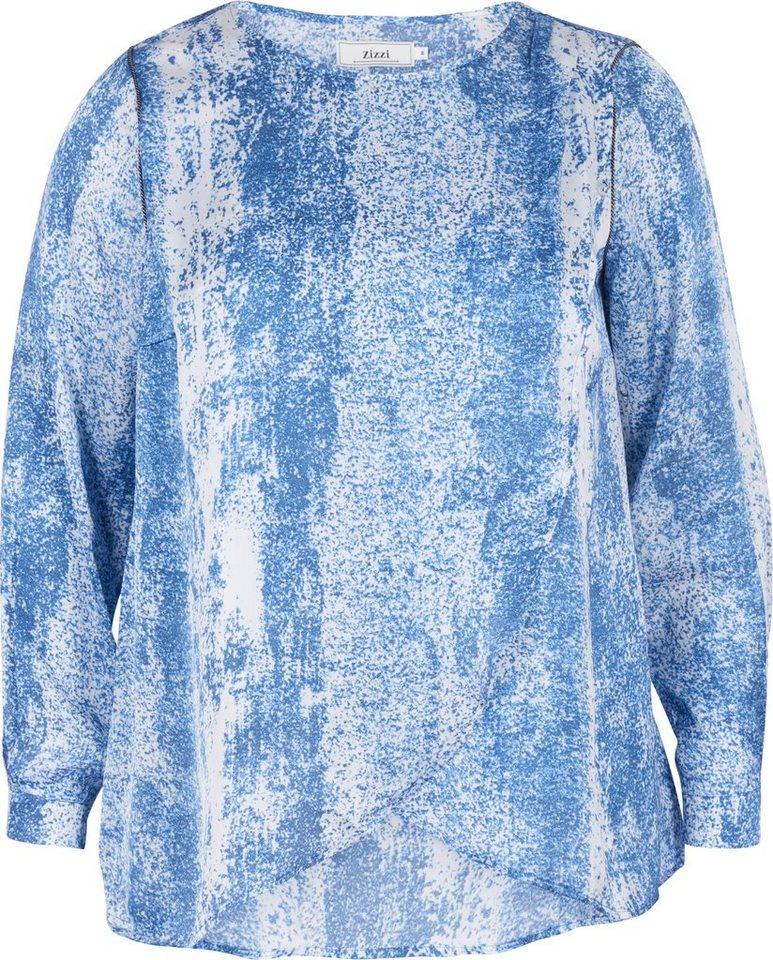 Zizzi Bluse in Dress Blues Comb
