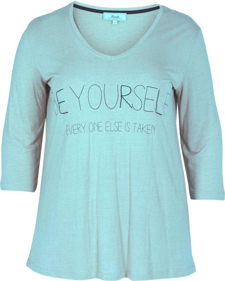Zizzi T-Shirt in Canal Blue