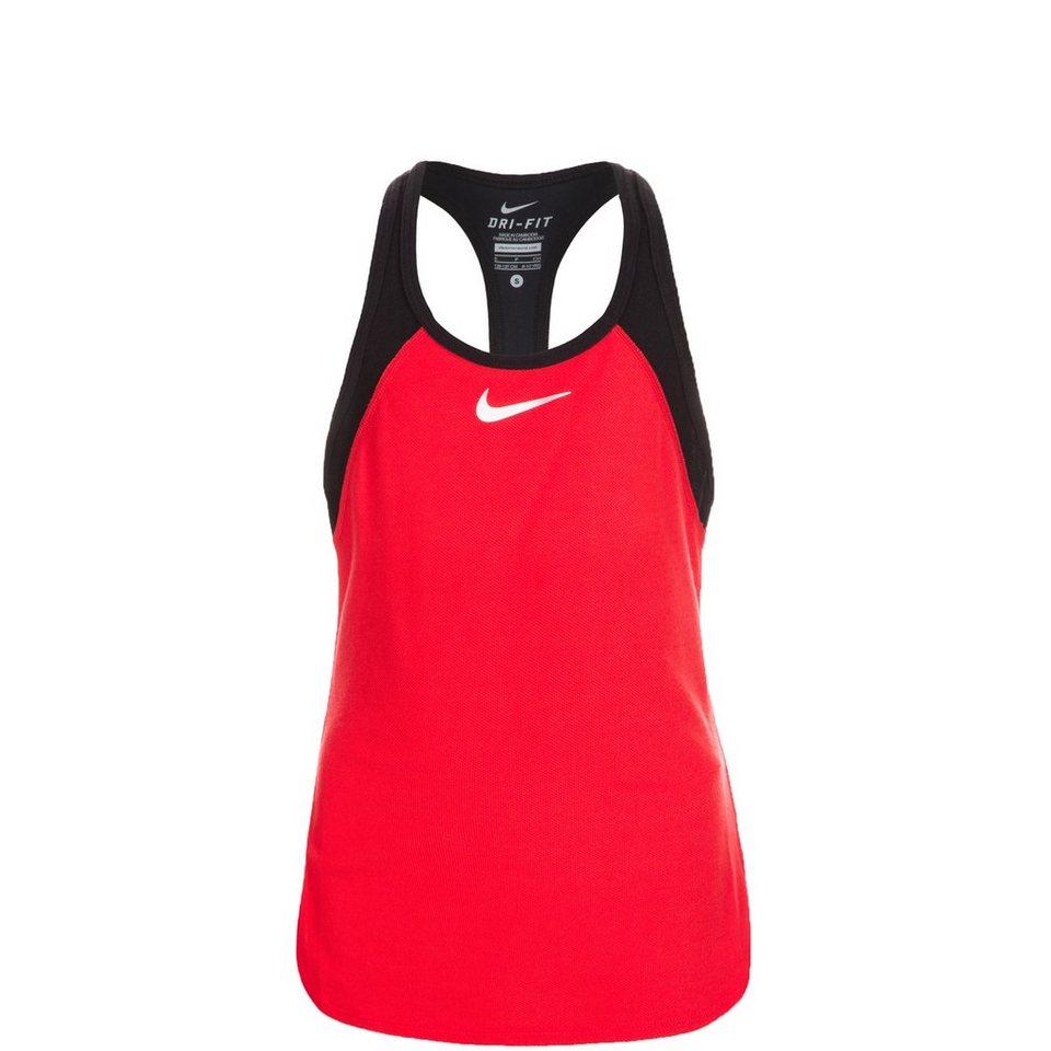 NIKE Court Slam Tennistank Kinder in rot / schwarz / weiß