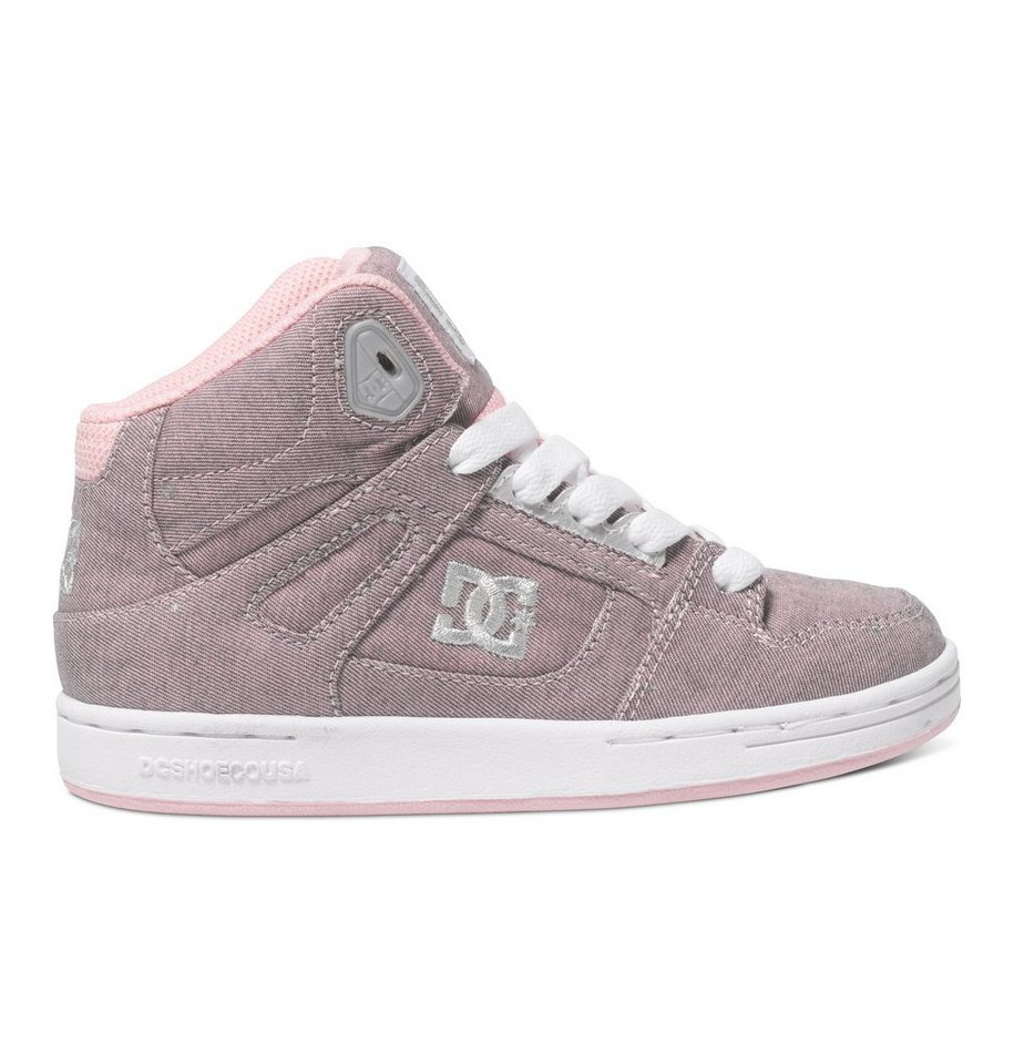 DC Shoes Hi-top »Rebound TX SE« in Pink/metallic silver