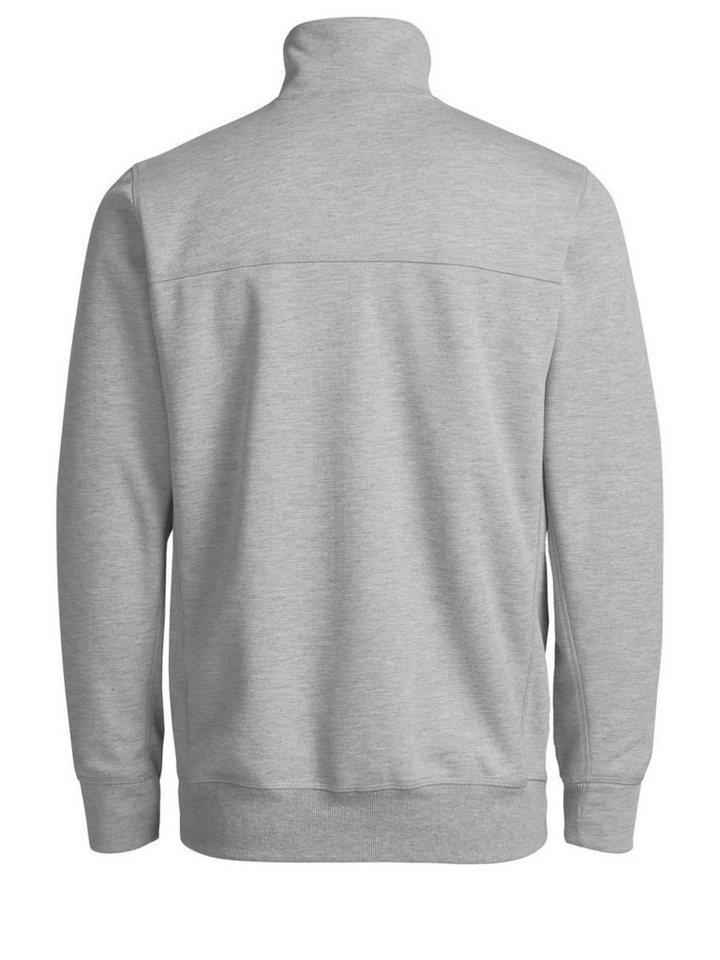Jack & Jones Melange- Sweatshirt in Light Grey Melange