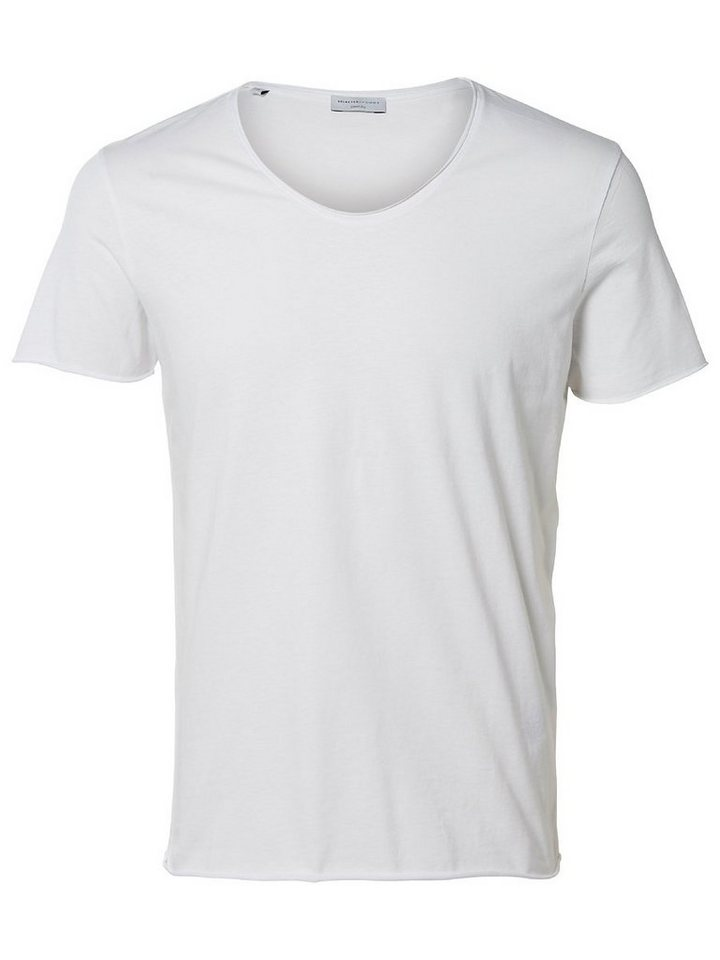 Selected Rundausschnitt T-Shirt in Bright White