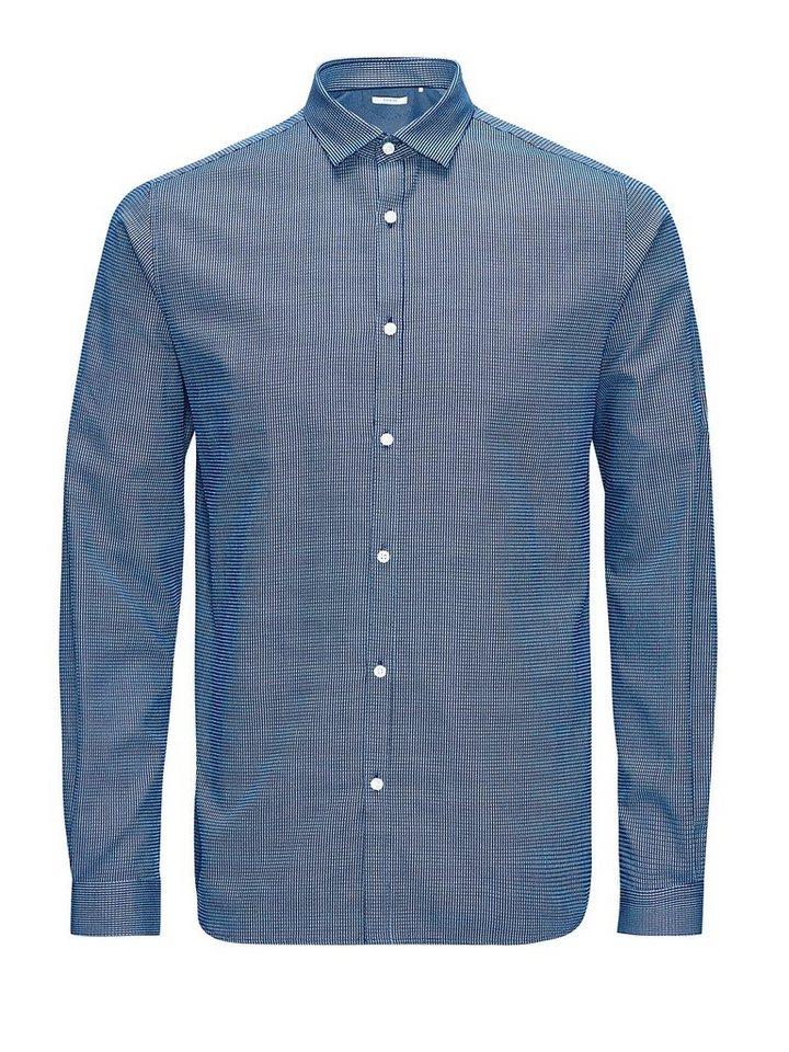 Jack & Jones Schaftgewebe- Businesshemd in Navy Blazer