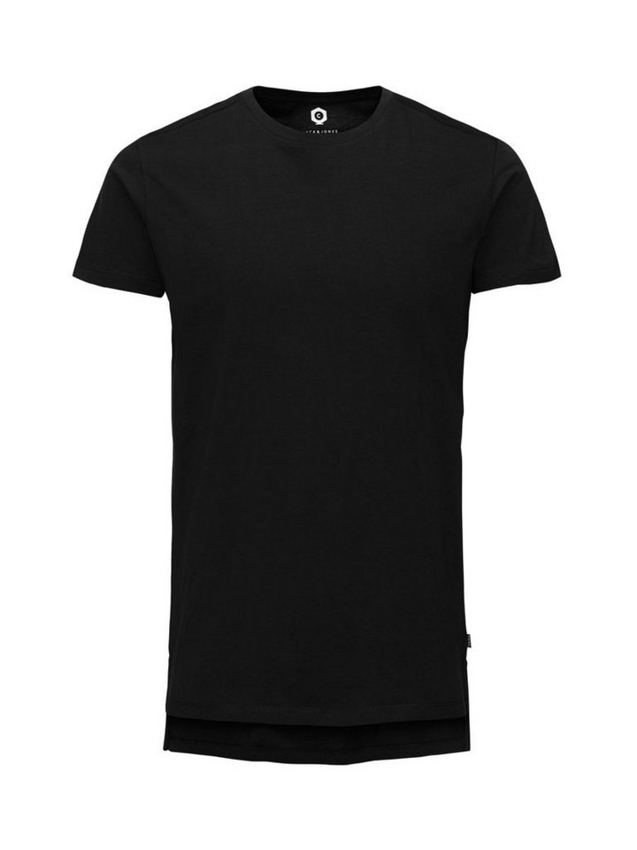 Jack & Jones Longline- T-Shirt in Black