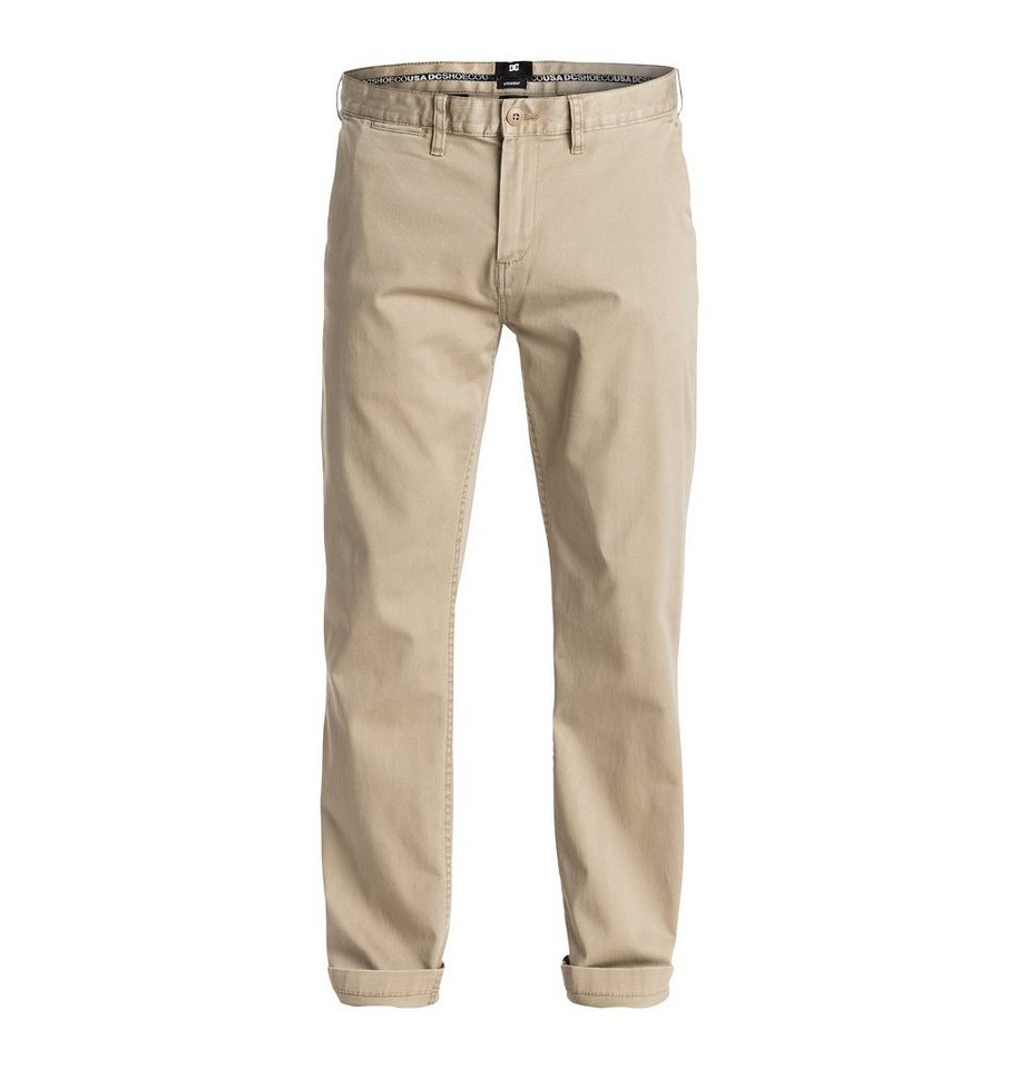 DC Shoes hose »Worker Straight Fit Chino 32« in Chinchilla