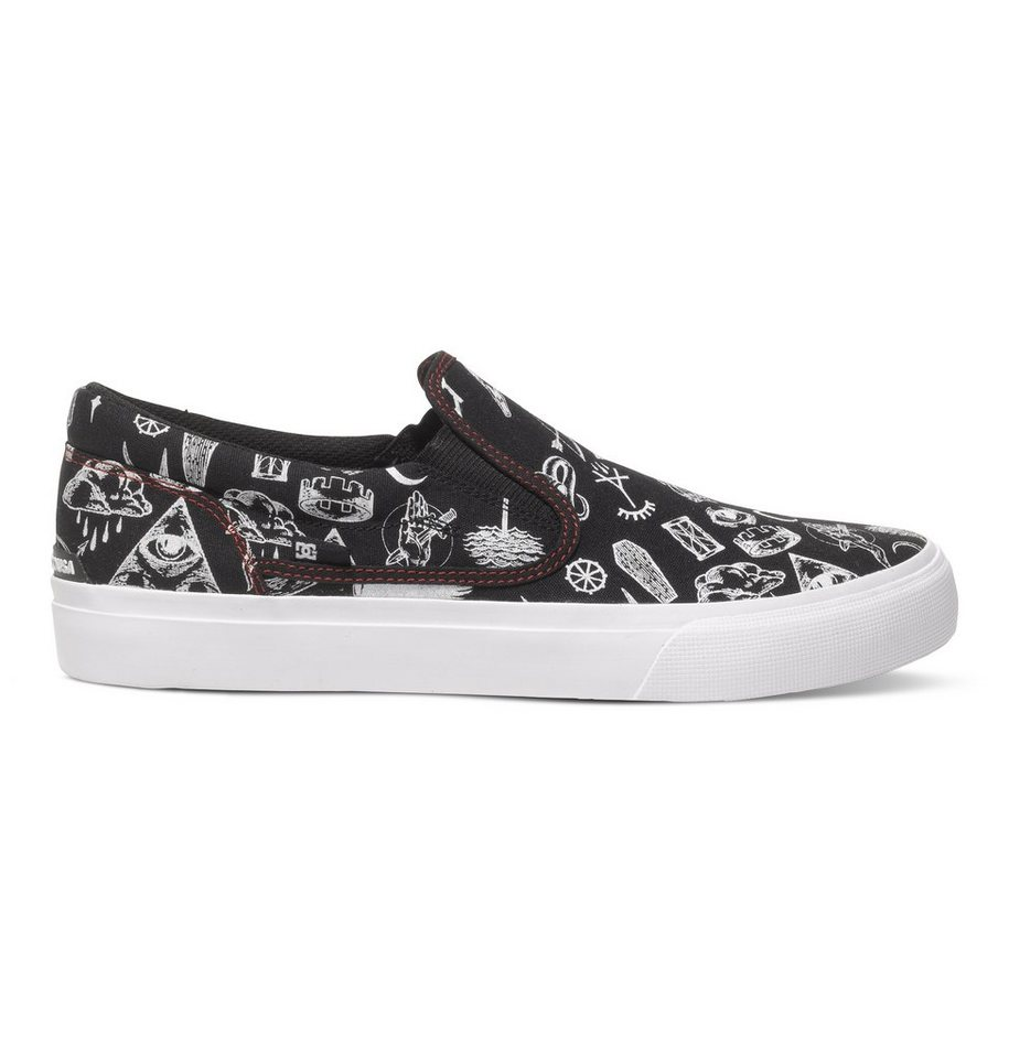 DC Shoes Slip-On Schuhe »Trase SP« in black/red print