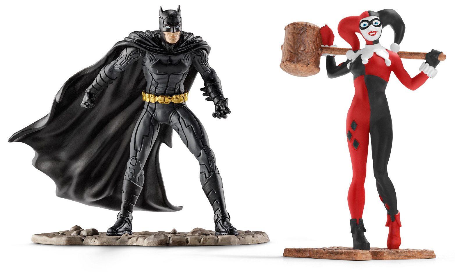 Schleich® Spielfigurenset, »DC Comics™ Justice League - Scenery Pack Batman vs Harley Quinn« (2tlg.)