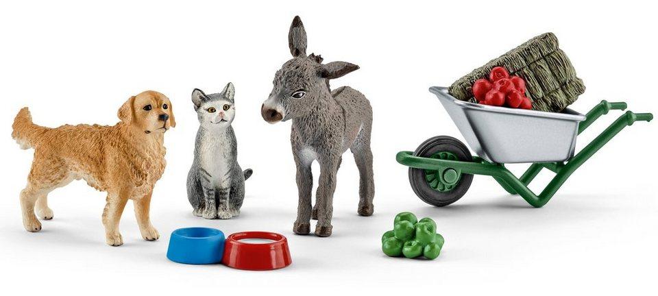 Schleich® Spielfigurenset, »Farm World - Fütterung auf dem Bauernhof«