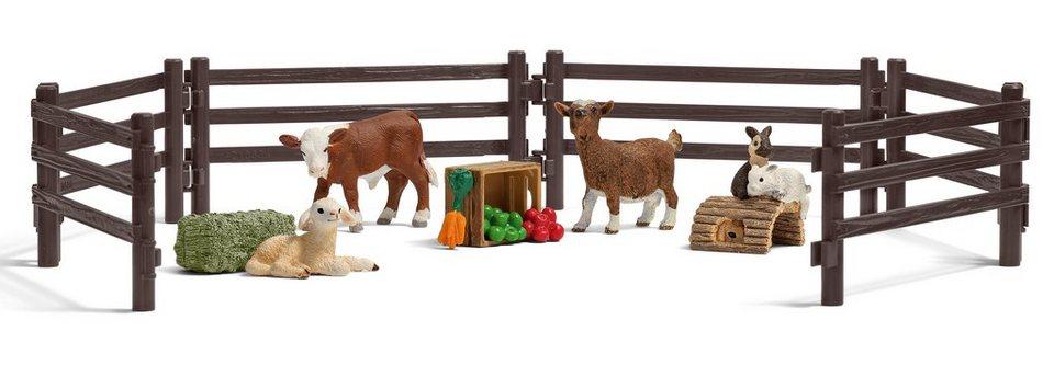 Schleich® Spielfigurenset, »Farm World - Playset Streichelzoo«
