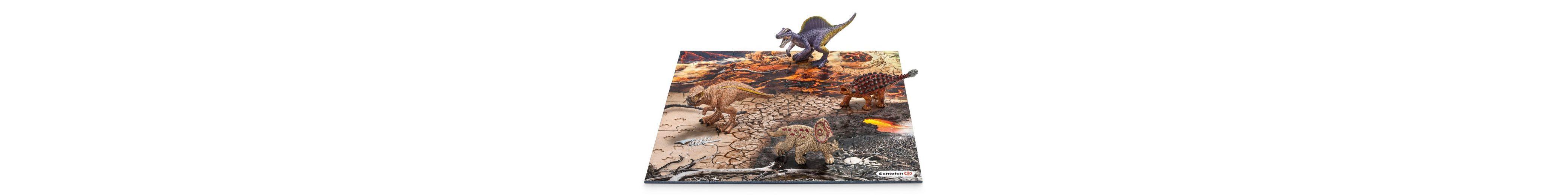 Schleich® Spielfigurenset, »World of History Dinosaurier - Mini Dinos mit Puzzle Lavazone«