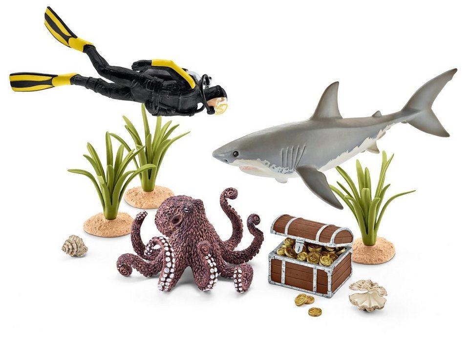 Schleich® Spielfigurenset, »World of Nature Wild Life - Taucher auf Schatzsuche«