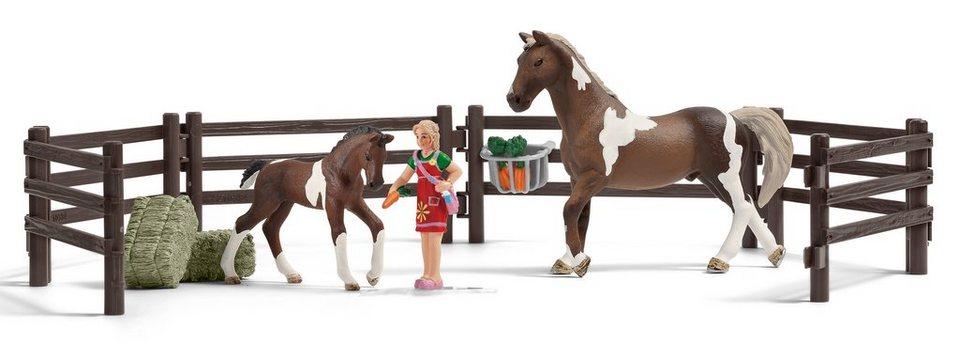 Schleich® Spielfigurenset, »Horse Club - Pferdefütterung Trakehner«