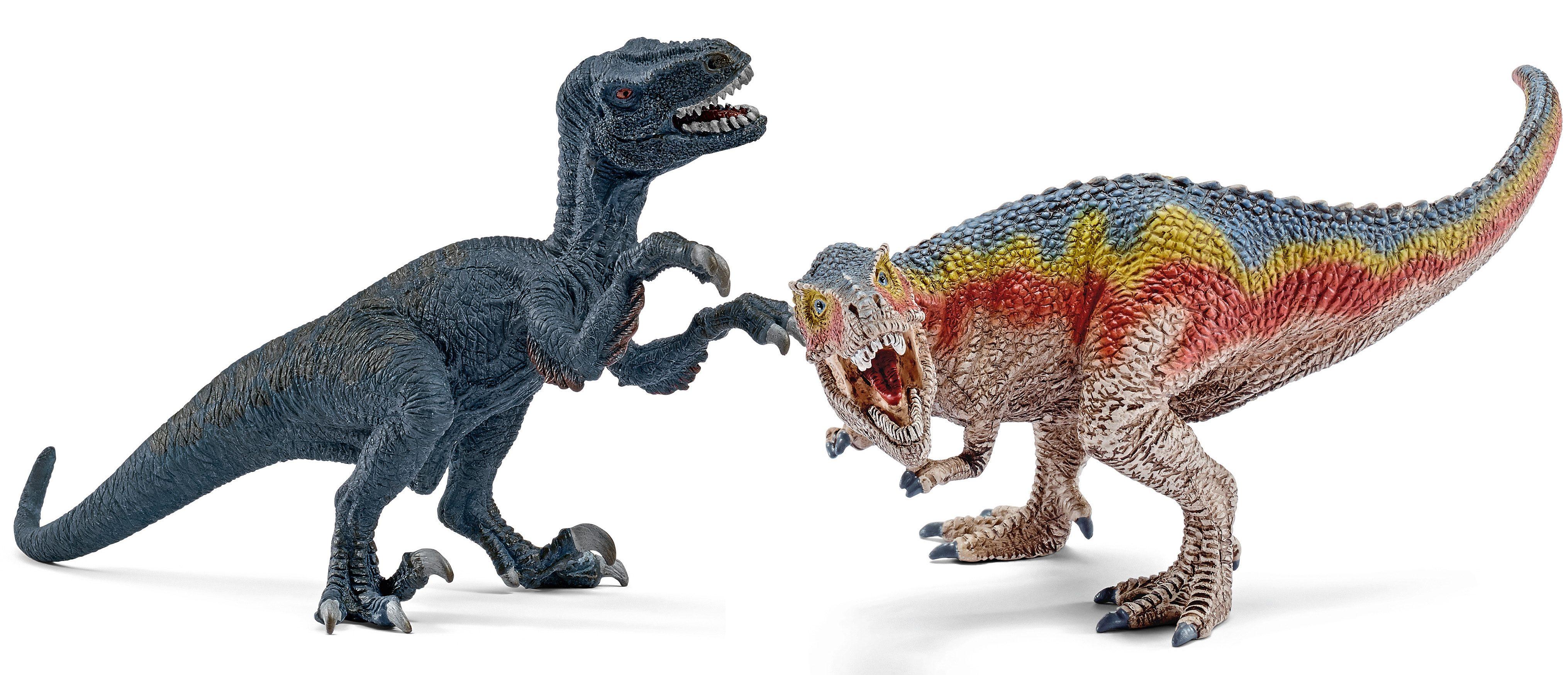 Schleich® Spielfigurenset, »Dinosaurier - Velociraptor und T-Rex, klein« (2tlg.)