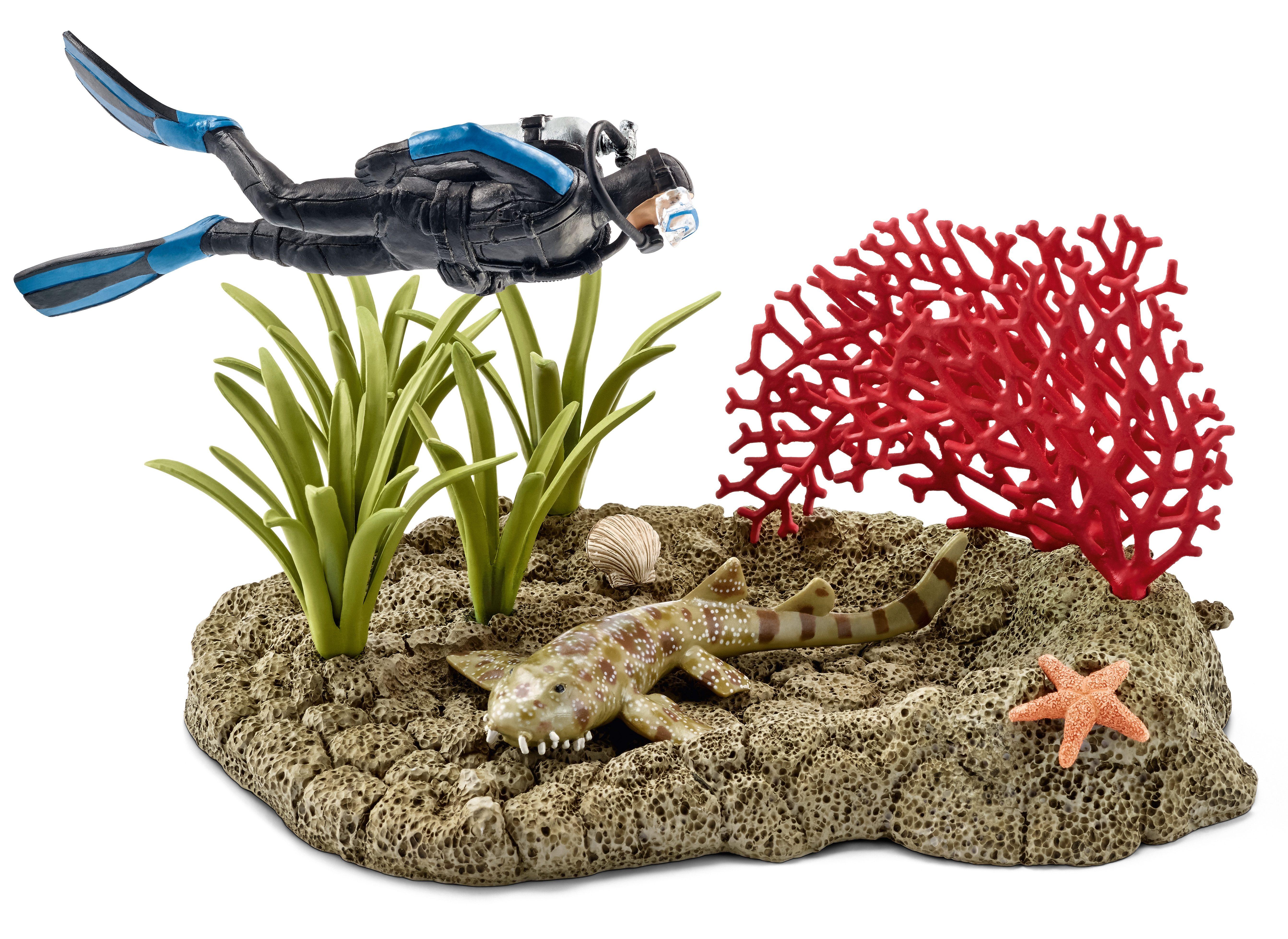 Schleich® Spielfigur, »World of Nature Wild Life - Taucher im Korallenriff«