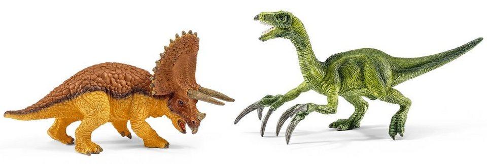 Schleich® Spielfigurenset, »Dinosaurier - Triceratops und Therizinosaurus, klein« (2tlg.)