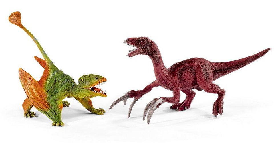 Schleich® Spielfigurenset, »Dinosaurier - Dimorphodon und Therizinosaurus, klein« (2tlg.)