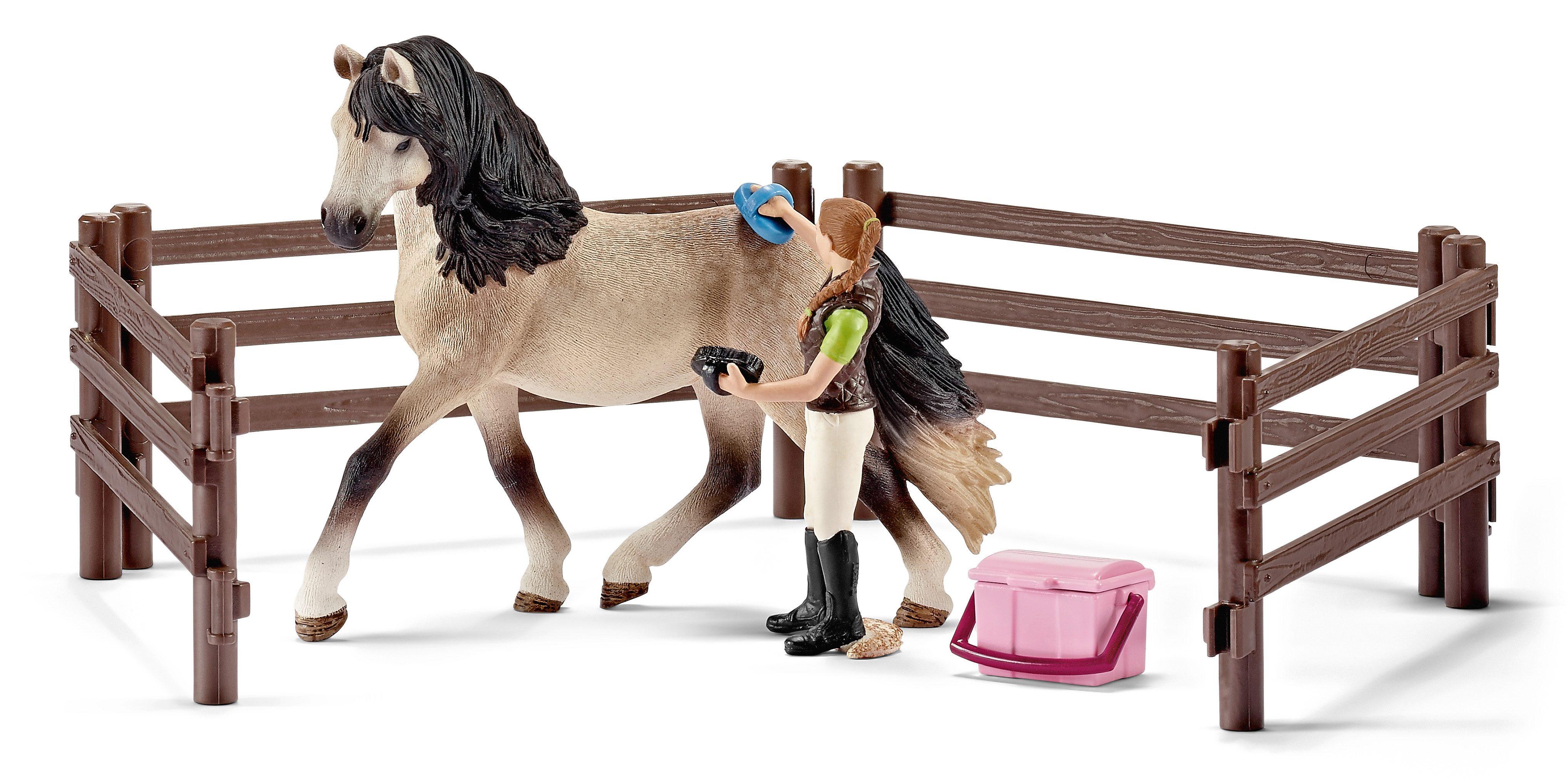 Schleich® Spielfigurenset, »Horse Club - Pferdepflegeset, Andalusier«