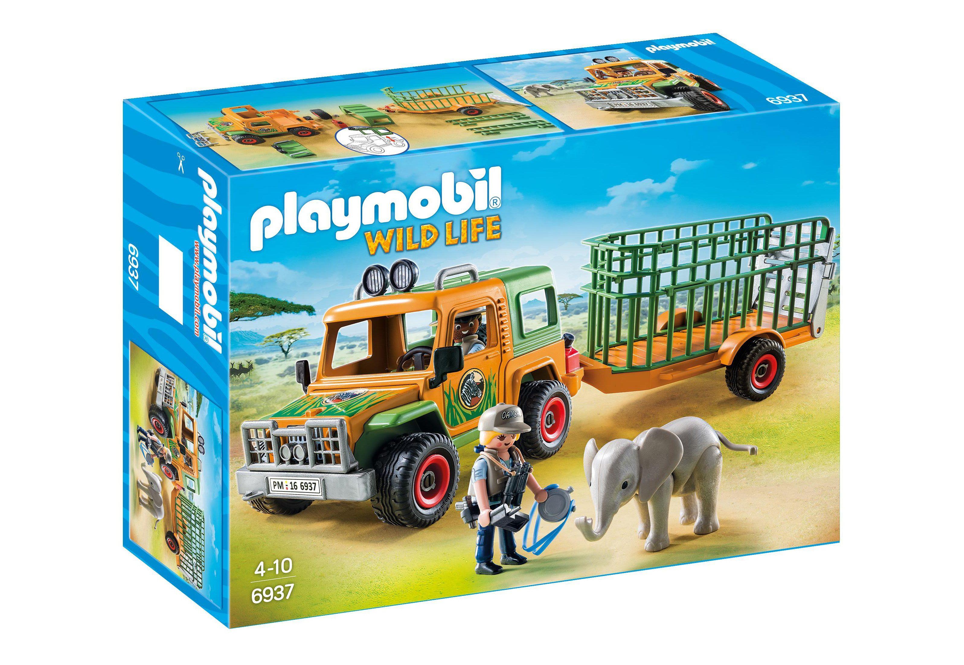 Playmobil® Rangergeländewagen mit Anhänger (6937), Wild Life