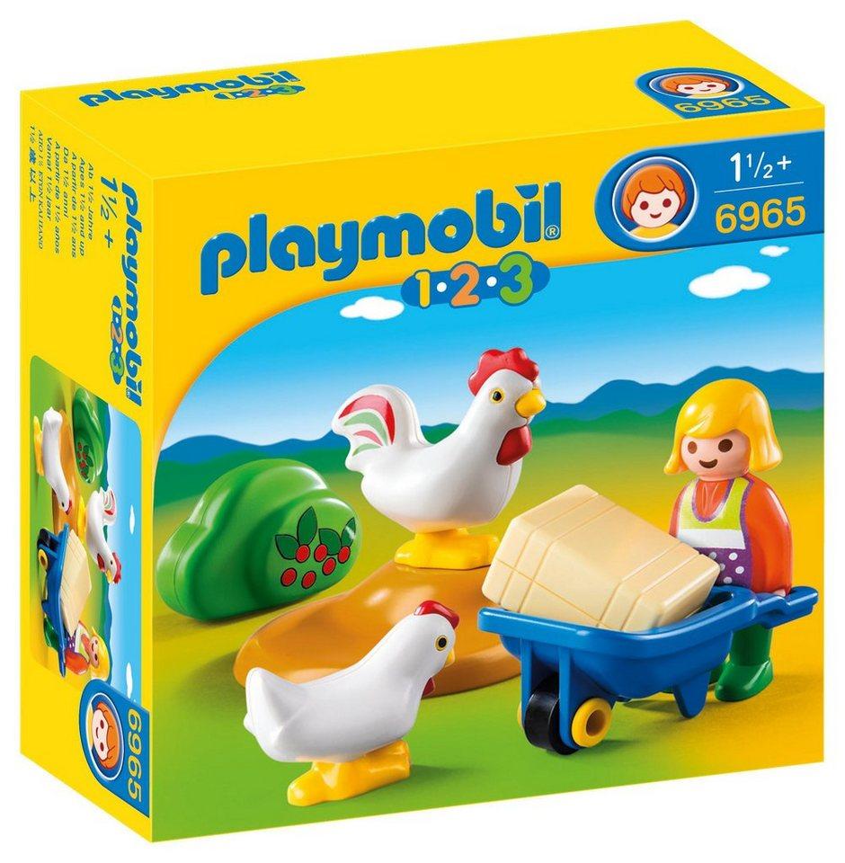 Playmobil® Bäuerin mit Hühnern (6965), 1-2-3