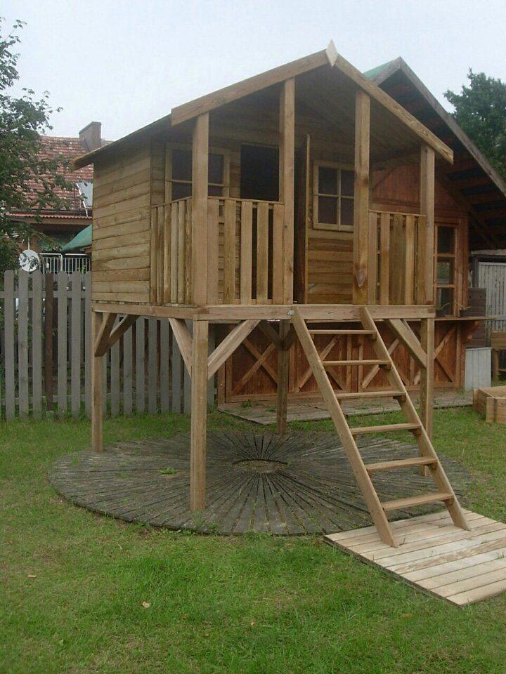 Dein Spielplatz Spielhaus »Kinderhaus Tobi auf Stelzen« in natur