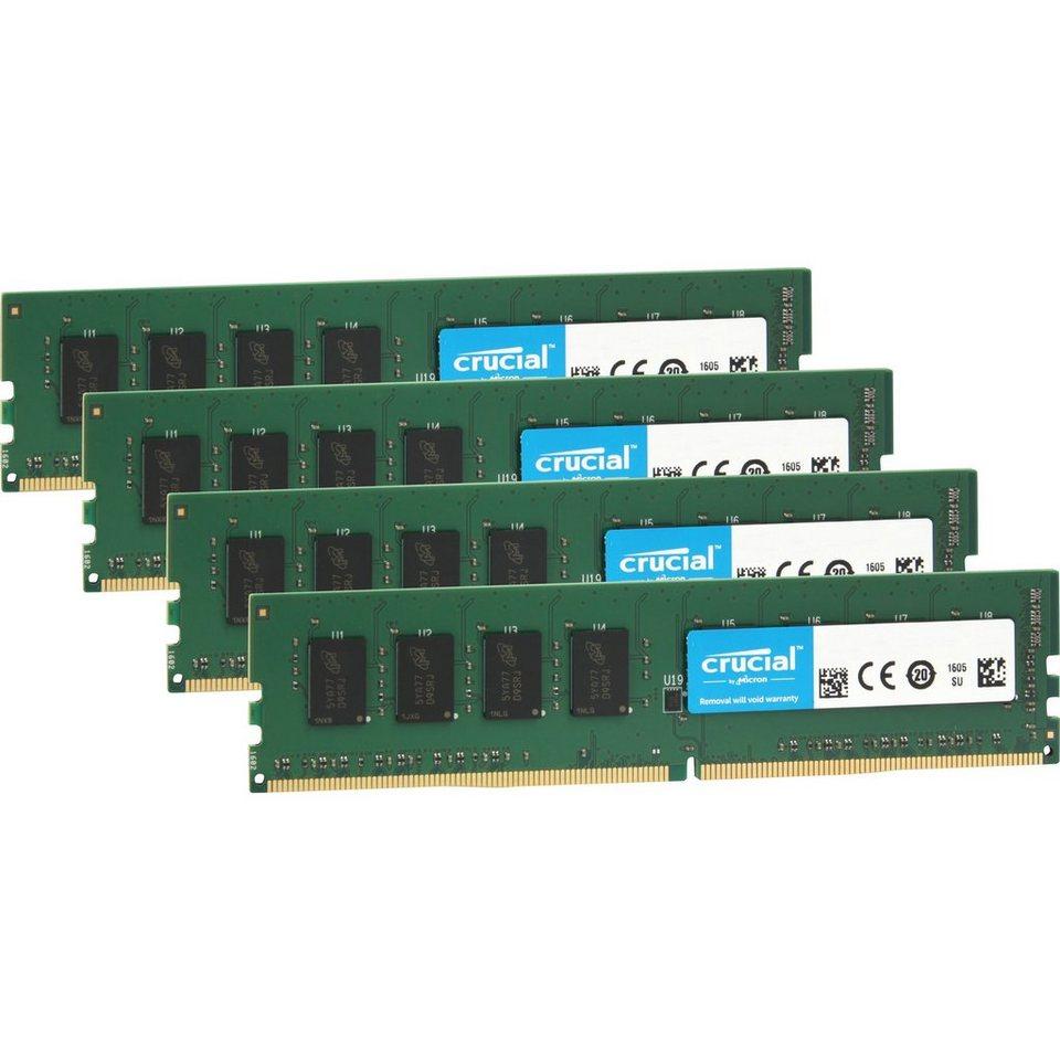 Crucial Arbeitsspeicher »DIMM 32 GB DDR4-2133 Quad-Kit«