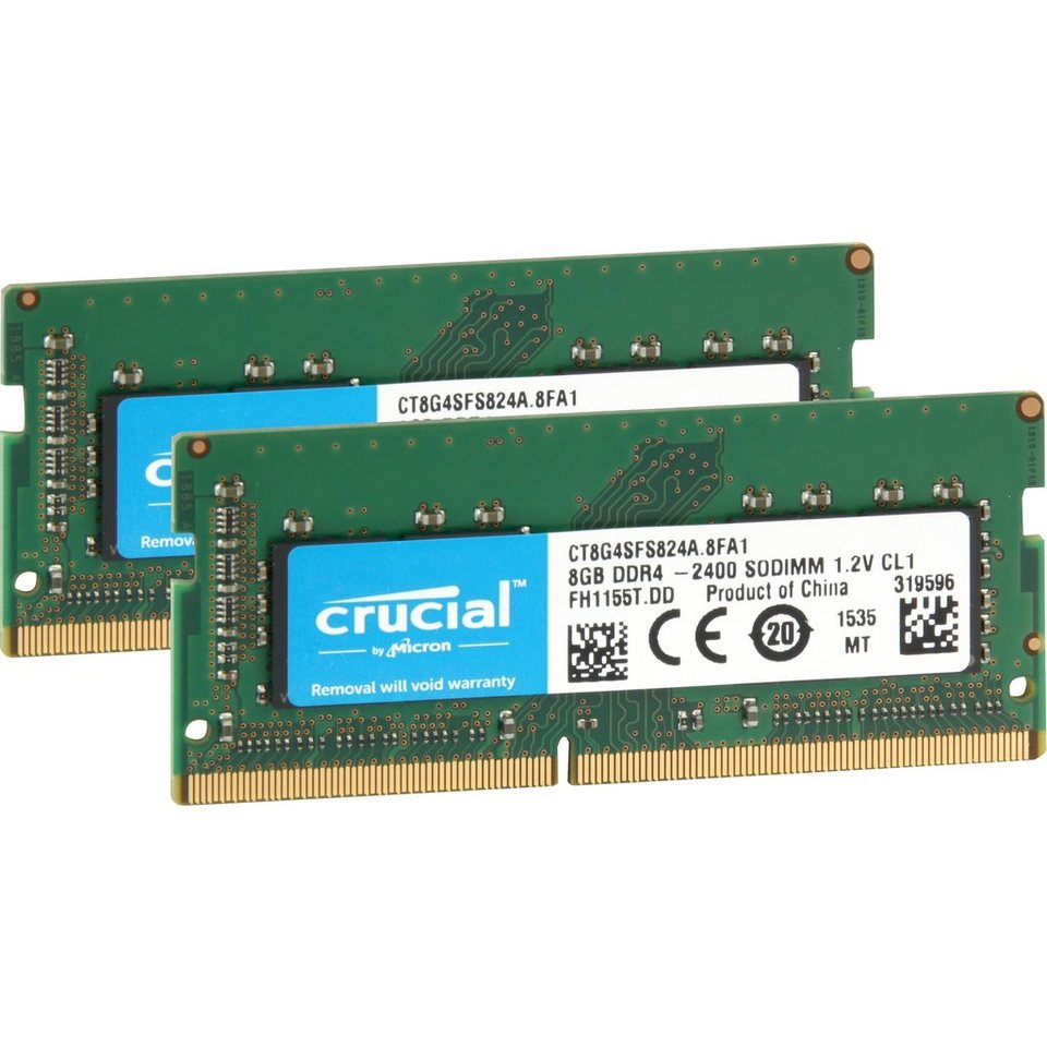 Crucial Arbeitsspeicher »SO-DIMM 16GB DDR4-2400 Kit«