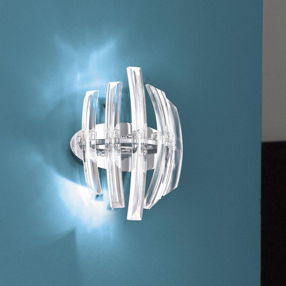Licht-Trend Wandleuchte »Wandleuchte mit Effektstrahlen« in Silber
