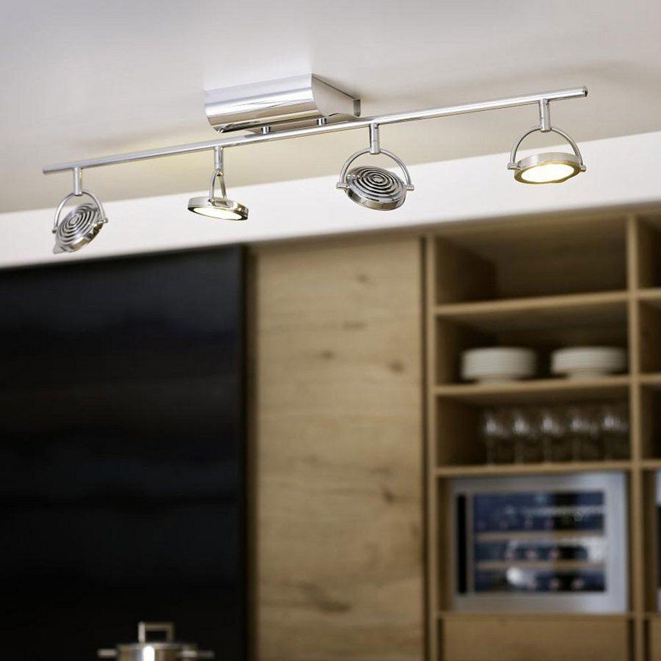 Licht-Trend Deckenleuchte »Vierflammiger LED-Balkenspot« in Silber