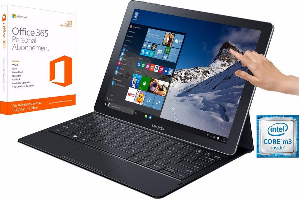 Samsung Galaxy TabPro S (SM-W 700) Convertible Notebook, Intel Core M, 30,5 cm (12 Zoll), WiFi in schwarz