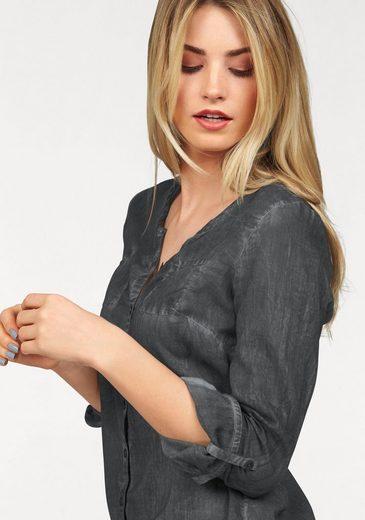 AJC Hemdbluse, in weich gewaschener Jeans Optik